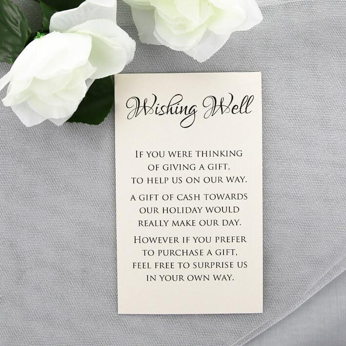 Wedding Wishing Well.Cream Wedding Wishing Well Card