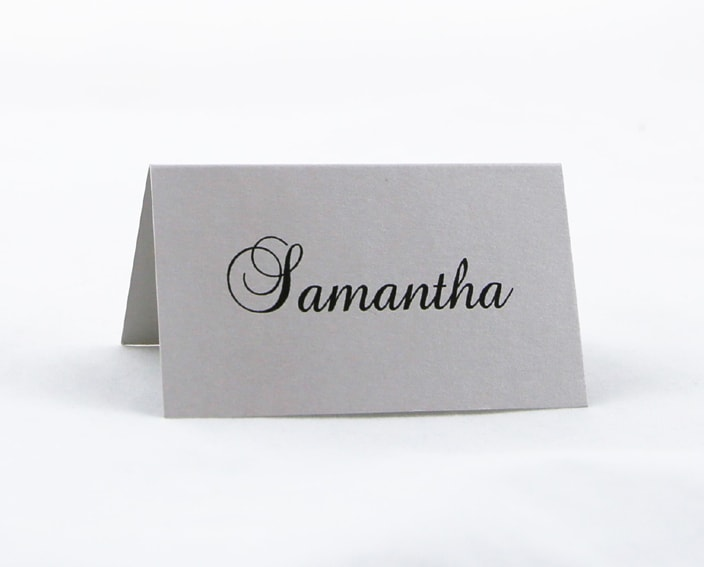 PLACAR122 Silver individual printed Place Card