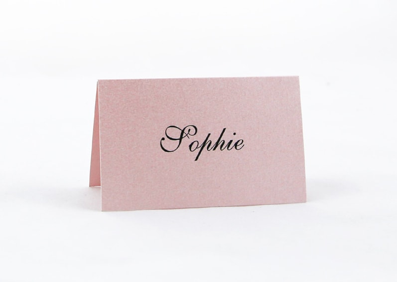 PLACAR125 Baby pink individual Place Card