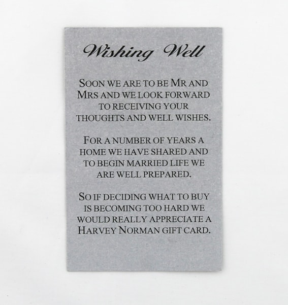 WEDINV26 Silver wishing well card