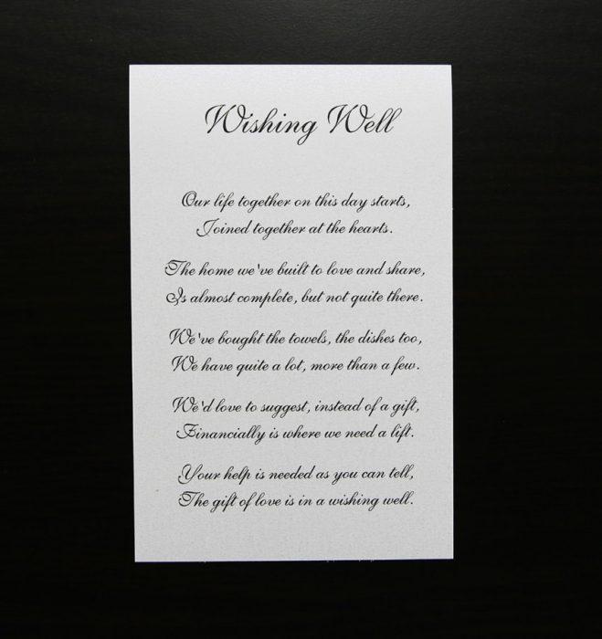 Wedding Wishing Well Invitations: Wishing Well Wedding Card