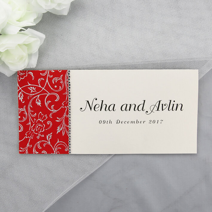 Red And Cream Indian Wedding Invitations