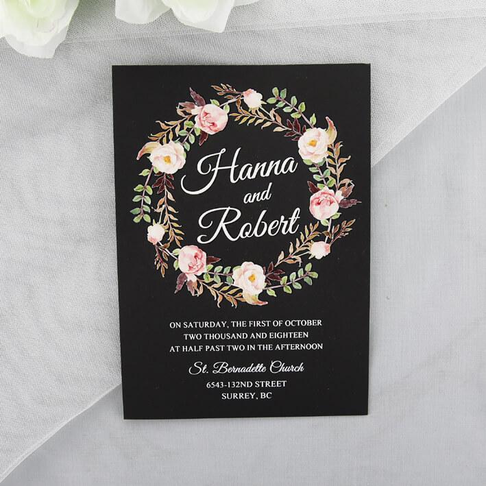 Black White Wedding Invitations: Thermographic Wedding Invitations