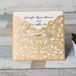 LASINV72 gold slip in lasercut invitation