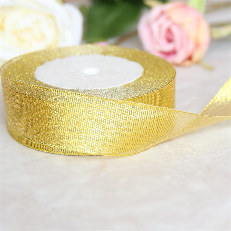 RIBBON62 Gold metallic ribbon