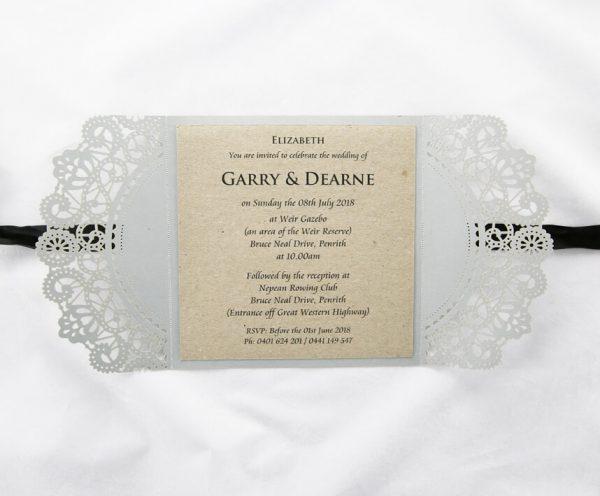Black And Silver Wedding Invitations: Silver And Black Lasercut Invitation
