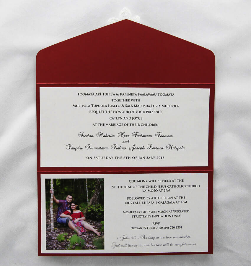 Red Wedding Invite with White Lace | Red Rose InvitationsRed And White Wedding Invitations