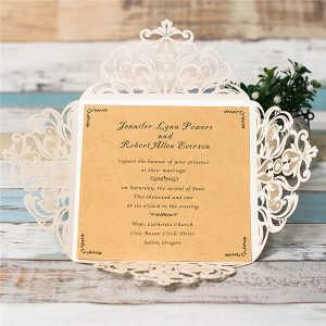 LASINV126 inside of gold glitter 4 panel lasercut invitation