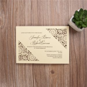 LASINV96 Printed Cream Lasercut Invitation