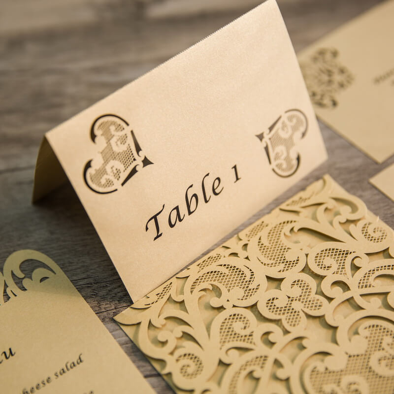PLACAR134 rustic heart lasercut individual place card