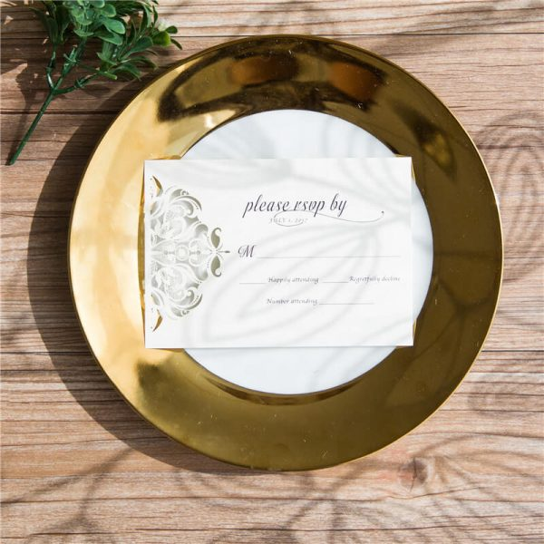 RSVPWISH32 white lasercut RSVP card