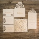 SET5 Lasercut invitation set white