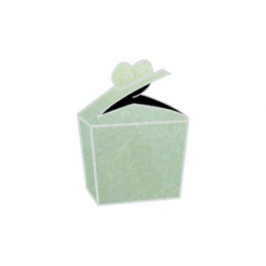 refreshing mint vibe camouflage textured metallic heart bonbonniere box