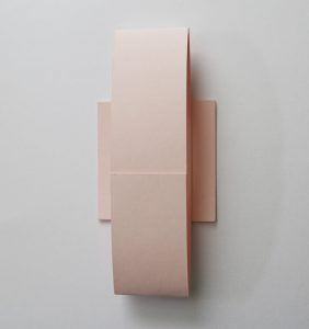 WEDINV161 back of pink blush belly band for pocket fold invitations