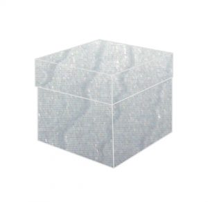 blue watermark textured metallic top box bonbonniere