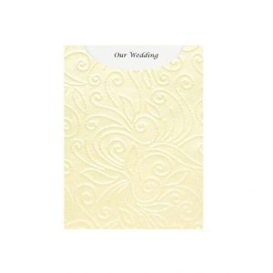 DIYPOC38 Elyse Ivory pearl embossed pocket DIY Invitation