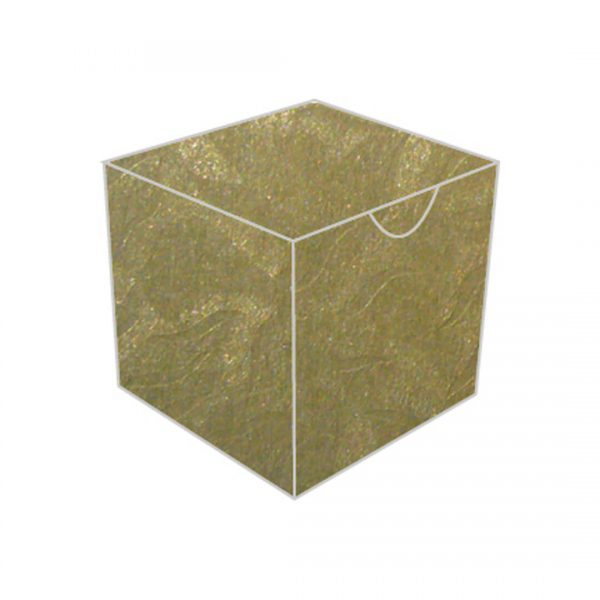 gold starfish textured metallic treasure chest bonbonniere box
