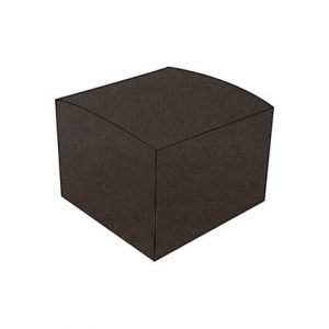 Humus dark brown textured vise versa DIY bonbonniere box