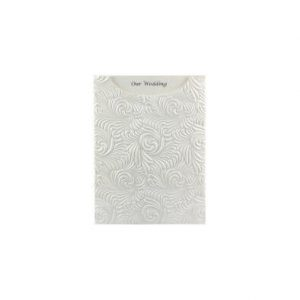 Majestic Swirl White pearl embossed pocket DIY Invitation