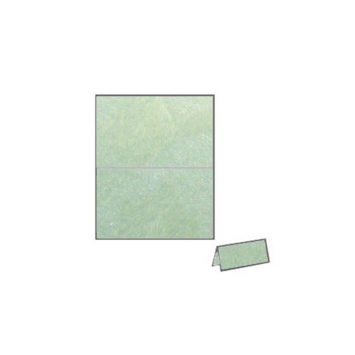 Refreshing Mint camouflage vibe textured metallic place card