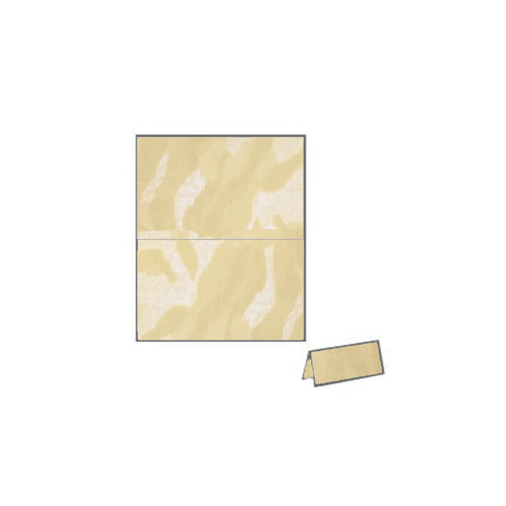 soft powder cream vibe camouflage textured metallic place card