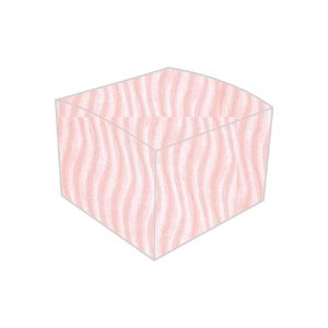 textured metallic vibe wave gentle pink rose bonbonniere box