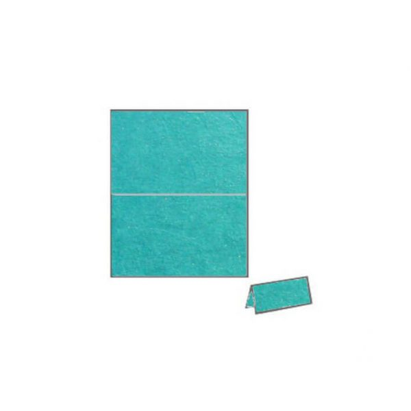 turquoise starfish textured metallic place card