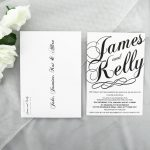 WEDINV89 Black and White Wedding Invitation with envelope