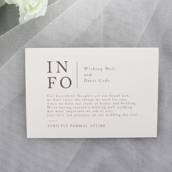 RSVPWISH37 Info wedding card