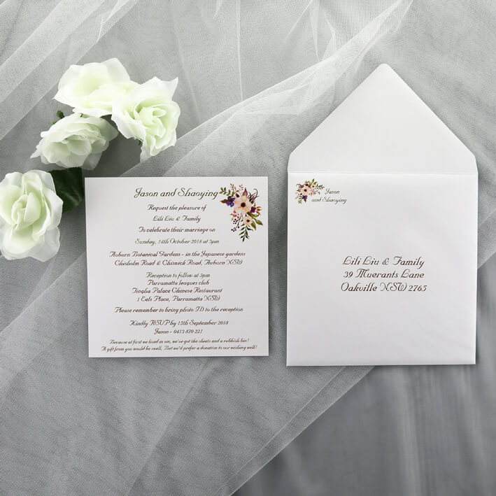 Simple Wedding Invitations: Simple, Floral Wedding Invitation