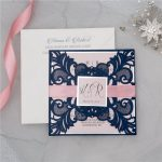 LASINV45 two panel lasercut invitation front