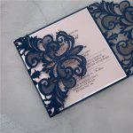 LASINV45 two panel lasercut invitation side on