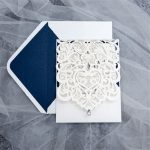 LASINV48 Front of Pocketfold Lasercut wedding Invitation