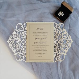 LASINV50 insde of Erin Floral Lasercut Invitation