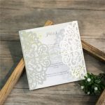 LASINV52 white filigree lasercut DIY Invitation