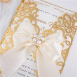 LASINV57 close up Foil lasercut wedding invitation