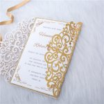 LASINV57 side on Foil lasercut wedding invitation