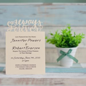 LASINV97 Forever and Always Lasercut Wedding Invitation