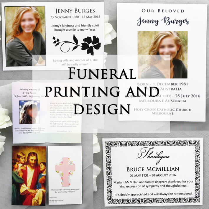 Funeral Prnting and design