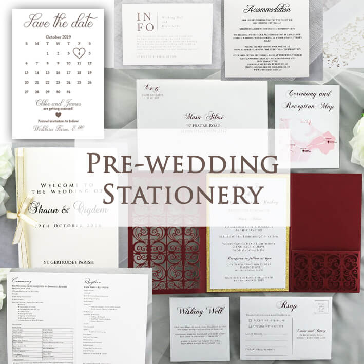 Pre wedding stationery